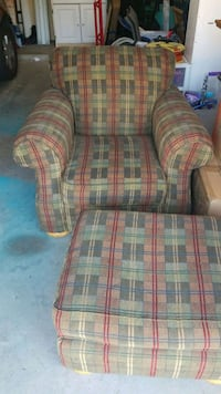 red, green, and white plaid sofa chair McKinney, 75071