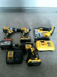 DeWalt cordless hand drill and impact driver