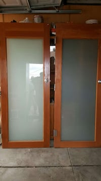 Solid wood custom doors with frosted glass 2276 mi