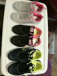 Girl's three assorted pairs of shoes