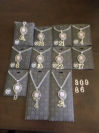 Baseball silver  necklace w/ #'s of your choice Brush Prairie, 98606