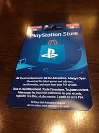 $50 Playstation Card