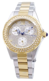 Invicta Women's Angel Crystals Two Tone Watch