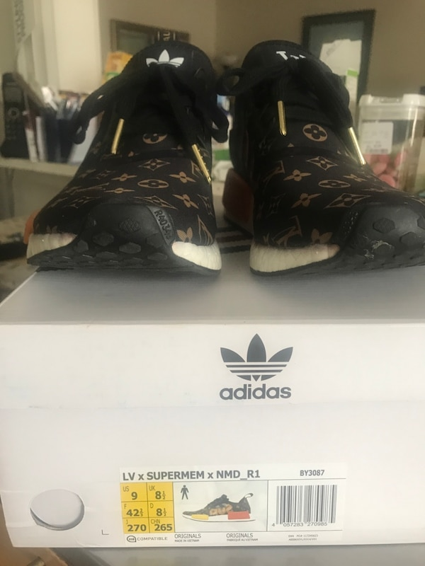 cb846dc0557 Used Adidas Custom NMD Supreme x LV Louis Vuitton not Pure Ultra ...