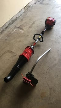 Red and black 2-in-1 string trimmer and blower Frederick, 21704