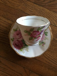 white and pink floral ceramic mug Toronto, M6J 0A6