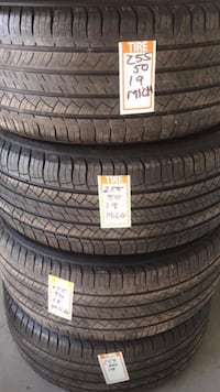 Michelin 255/50/19 preowned tires great condition 15 warranty West Caldwell, 07006