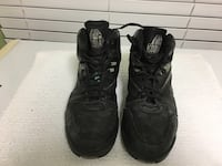 pair of black basketball shoes