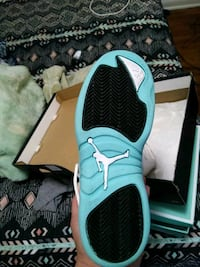 pair of teal-and-black Nike basketball shoes Corpus Christi, 78411