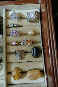Different Styles, colors, stones & size rings 586 mi