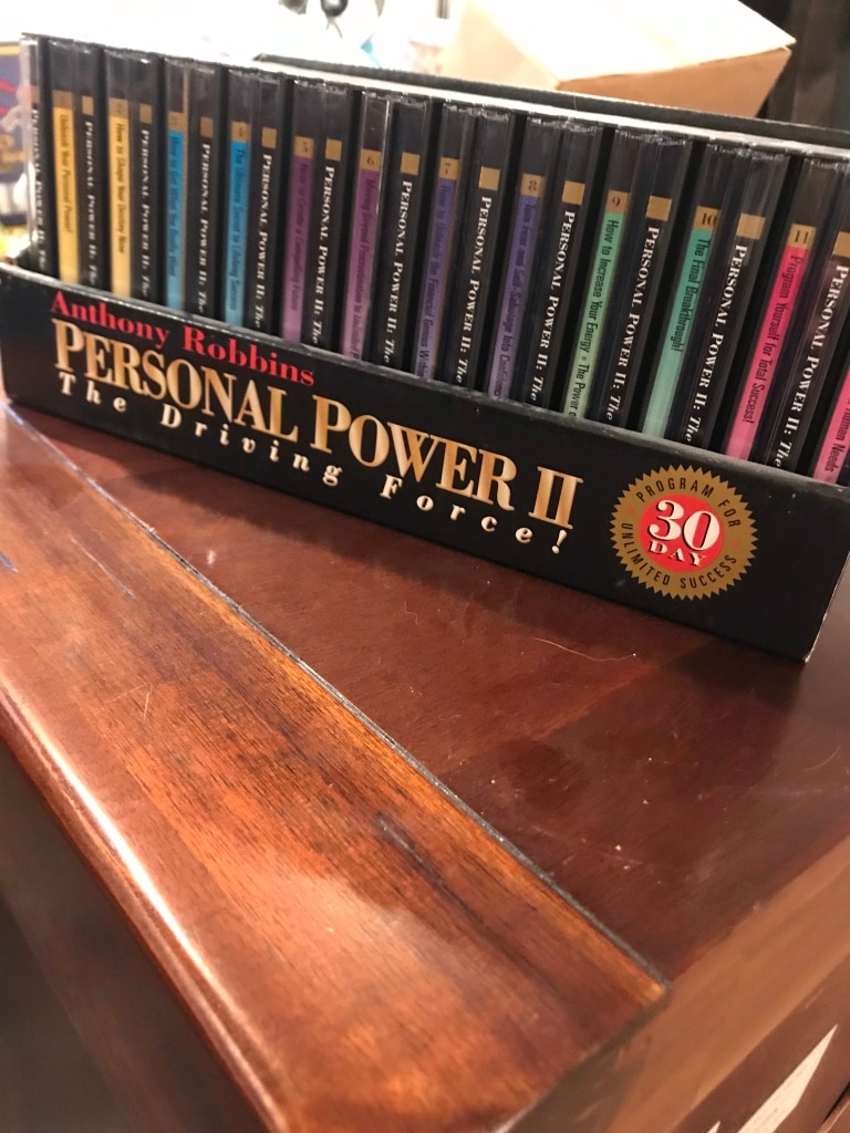 Photo Anthony Robbins Personal Power II Driving Force complete 12 volumes
