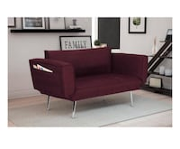 Euro Linen Convertible Futon Couch ( Color Plum) Houston, 77080