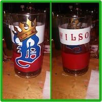 wilson red and white printed drinking glass Baltimore, 21213