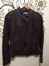 leather full zip jackets