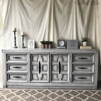 Light rustic grey dresser Modesto, 95350
