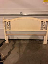 white wooden bed headboard and footboard Statesville, 28625
