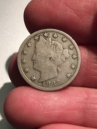 "1883 Liberty Nickel. ""No Cents"". VG condition. Los Angeles, 91344"