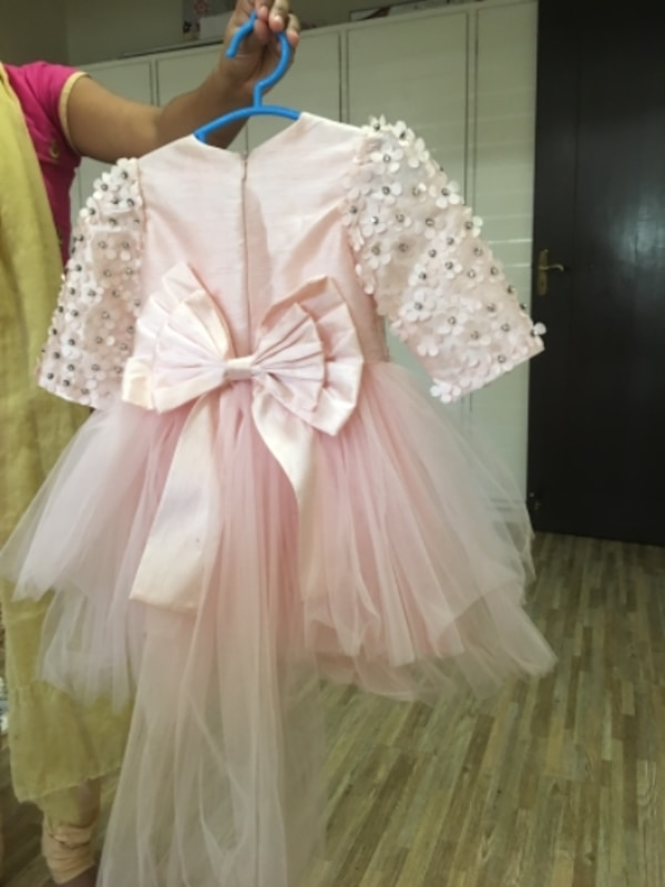women's white and pink dress
