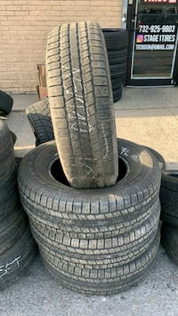 USED SET OF GOODYEAR WRANGLER SR-A  *ALL TIRES 70%+ SIZE: 265/70R17  Perth Amboy, 08861