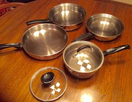 Stainless Steel Frying Pans, Steaming Pot