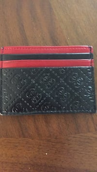 Black and red guess leather bi-fold wallet Saskatoon, S7N 3N3