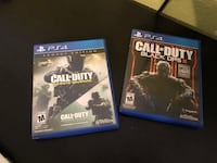 (PS4 games) Call of duty black ops 3 and call of duty infinite warfare legacy edition (with call of duty modern warfare remastered)  Brentwood, 94513