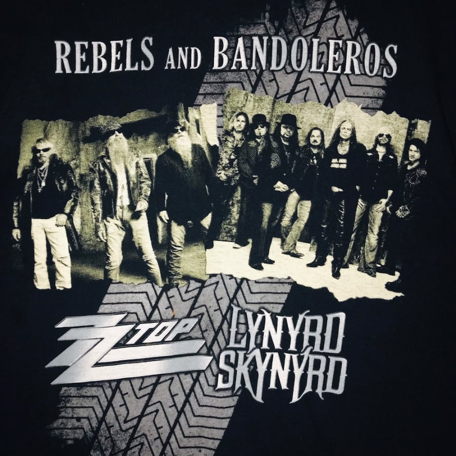 ZZ Top & Lynyrd Skynyrd 2011 Rebels and  Bandeleros Tour Tshirt.
