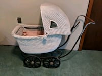 Antique white wicker baby carriage Ledyard, 06335