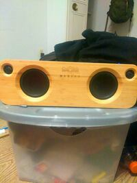 yellow and black Marley portable speaker