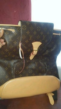 black and brown leather Louis Vuitton backpack Sacramento, 95822