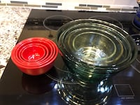 Glass and plastic bowls. Only $40 for both sets  Brampton, L6X 1H8