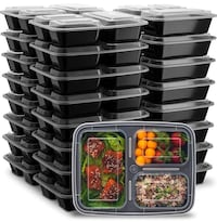 25-pack 32oz 3 compartment meal prep containers Baltimore, 21229