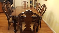 Gorgeous wooden dining table set Burke