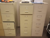 two white 4-drawer filing cabinets Vancouver