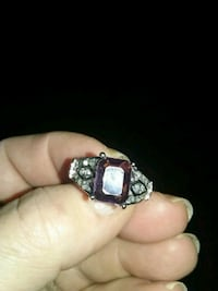 Sterling silver ring with alexandrite and gold acc Winchester, 22601