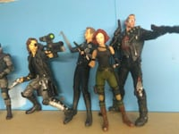 assorted McFarlane action figure collection