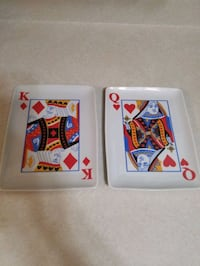 Card serving dishes!