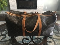 brown and black Louis Vuitton leather tote bag Dieppe, E1A 0P2