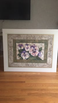 white wooden framed painting of pink flowers Cherry Hill, 08034
