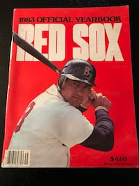 1983 Boston Red Sox Official Yearbook East Providence, 02914