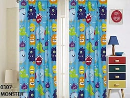 Window Curtain Panels with tiebacks (4 Piece Set), Monster