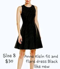 Anne Klein ablack fit and flare dress like new Reston, 20190