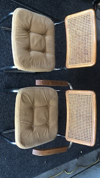 6 brown fabric padded chairs.... must pick up no delivery Thornton, 80241