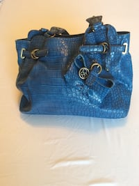 Jessica Simpson blue croco shoulder bag
