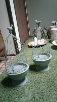 two gray metal bird cages Sherwood Park, T8H 2N6