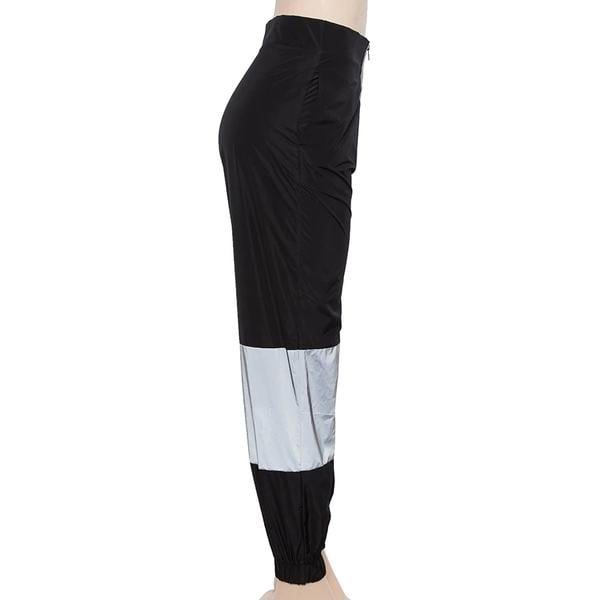 Brand New - Black Reflective Pants with Zippers