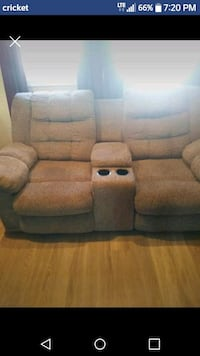 brown fabric home theater sofa Lubbock, 79413