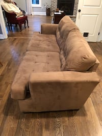 Brown suede 3-seat sofa with coffee and end table  Hebron, 06248