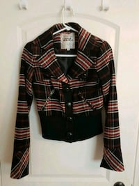 black, red, and white plaid coat Mississauga, L4X 1R3