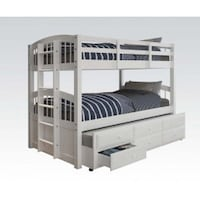 Beautiful brand new triple twin bunk bed with storage  Great Neck, 11023